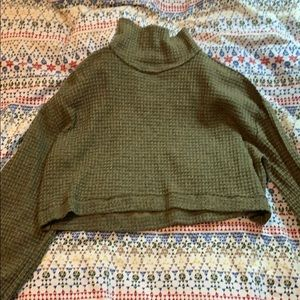 Free People Cropped Turtleneck Sweater